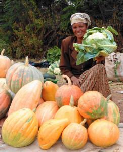 Roadside market in Ethiopia